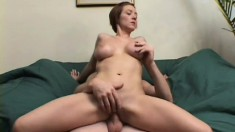 Kinky young brunette fingers her ass then gets a backdoor dicking