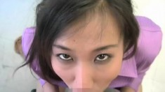 Lustful Oriental babes getting their mouths filled with hot semen