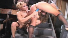 Amber Wild and her sultry lesbian lover fuck each other in every hole