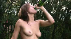 They Drink Outdoors Where She Gives Head And They Go Inside To Fuck