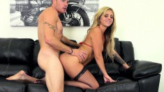 Madelyn Monroe is in heaven when a hard pole deeply invades her peach