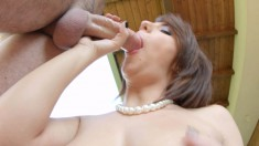 Hanna Sweet works her lips and her cunt on every inch of that big dick