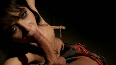 Nilla is tortured and tied up with a dick in her mouth and twat