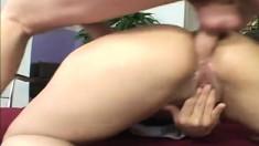 Hunky Trevor Slide gets to penetrate Cherry Rose's hot pink slit