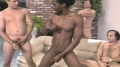 Big Saggy Tit Ebony Keisha Gets All Her Holes Nailed In A Gangbang