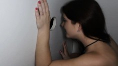 Cute Girl Blair Drops Her Clothes And Blows Strangers At The Gloryhole