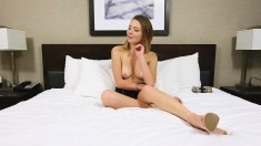 Sexy Slim Blonde Wants Nothing But A Thick Cock Banging Her Wet Pussy