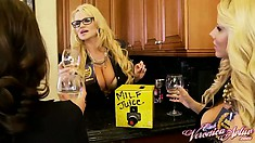Three horny milfs with awesome bodies get together to brings their fantasies to life