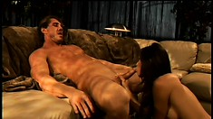 Gorgeous stripper with big boobs has her boyfriend drilling her anal hole deep