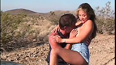 Sexy as hell Asian Kianna Dior gets fucked in the middle of nowhere