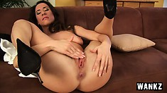 Pepper has been masturbating a long time and knows how to cum hard