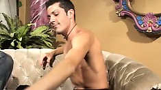 Eager cock hound gets that beautiful male's ass nailed instantly