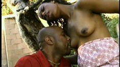 Eager black chick Cotton Candy takes some rough dicking and loves it