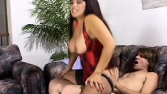 Cumisha Amado Gets Her Tits Out for Dave Hardman