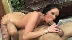 Bubble butt chick oils up her body before her pussy gets smashed
