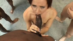Two Guys Fucked A Petite Babes Pussy