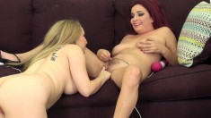 Ashlee and Aiden meet up for some lesbian pussy play time with toys
