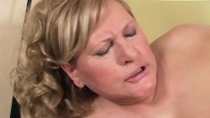 Chunky blonde Lotta gets naughty and lets this guy fuck her in the ass