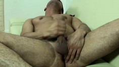 British stud lies on the couch and sensually takes himself to orgasm
