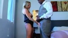 Interracial DP for blonde MILF
