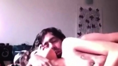 Indian couple having sex in front of their computer