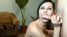 Busty Russian Girl Fucks Hard On Livecam