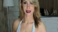 Sexy Blonde With Restless Leg Syndrome Smokes On Cam