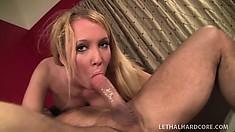 Fantastic fair-haired slut Blond Ballerina is getting good portion of banging