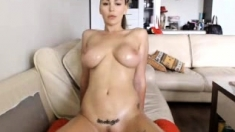 Amateur With Perfect Boobs Strips On Webcam