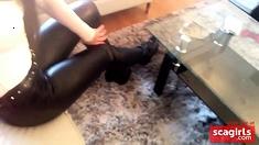 Julie Skyhigh Leather Ass And Lorenzi Boots High Heels
