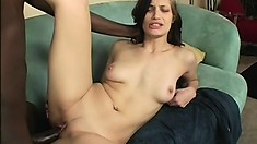 Jessica Right is a loud fuck when she cums on his big black cock