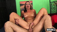 Mature bitch gets her cunt licked and fucked by a younger dude