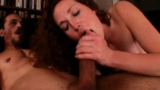 Really hot girl gets her slit royally pounded by a huge dick
