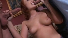 Natural born whore Vixen Vogel takes a double drilling and cums hard