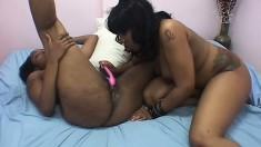 Chubby lesbian chicks fulfil their girl on girl fantasies together